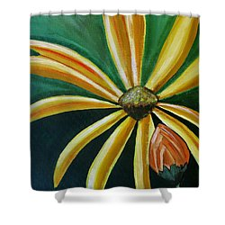 Abstract Wildflower - Floral Painting Shower Curtain