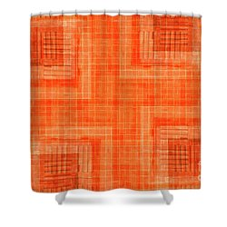 Abstract Window On Orange Wall Shower Curtain by Silvia Ganora