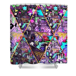 Abstract Windows Shower Curtain