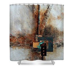 Shower Curtain featuring the painting Abstract With Stud Edge by Joanne Smoley