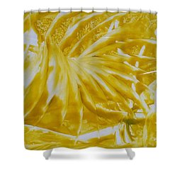 Abstract Yellow  Shower Curtain