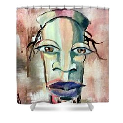 Abstract Young Man #2 Shower Curtain by Raymond Doward