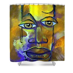 Abstract Young Man Shower Curtain