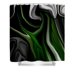 Abstract309h Shower Curtain by David Lane