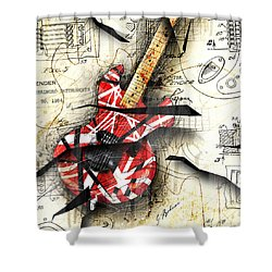 Abstracta 35 Eddie's Guitar Shower Curtain by Gary Bodnar
