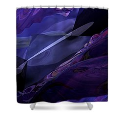 Abstractbr6-1 Shower Curtain by David Lane