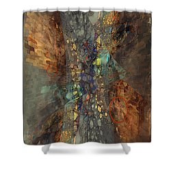 Abstracted Extrusion  Shower Curtain
