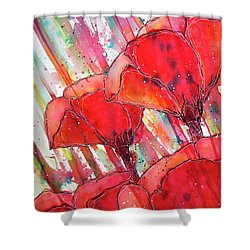 Abstracted Poppies No.2 Shower Curtain