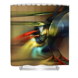 Abstraction 022023 Shower Curtain by David Lane