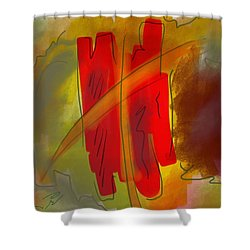 Abstraction Collect 3 Shower Curtain