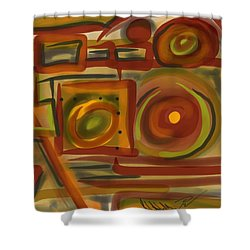 Abstraction Collect 4 Shower Curtain