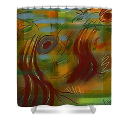 Abstraction Collect 5 Shower Curtain