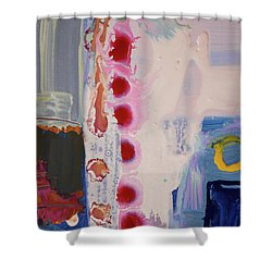 abstraction, fire in the Chakras Shower Curtain by Amara Dacer