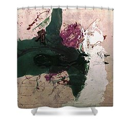 Abstraction White Red Green  Shower Curtain