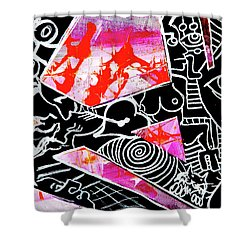 Shower Curtain featuring the painting Abstractions by eVol i