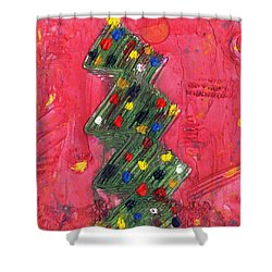 Abstractmas Shower Curtain