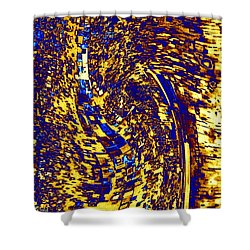Shower Curtain featuring the digital art Abstractmosphere 3 by Will Borden