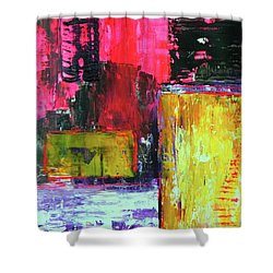 Abstractor Shower Curtain by Everette McMahan jr