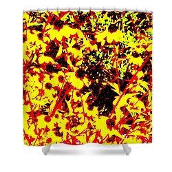 Abstractual Overgrowth Shower Curtain