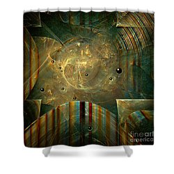 Shower Curtain featuring the painting Abstractus by Alexa Szlavics