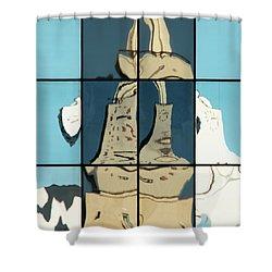 Abstritecture 17 Shower Curtain