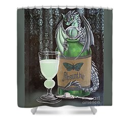 Absinthe Dragon Shower Curtain
