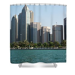 Shower Curtain featuring the photograph Abu Dhabi by Hanza Turgul
