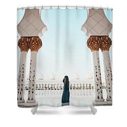 Abu Dhabi Mosque Shower Curtain