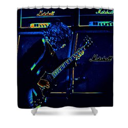 Ac Dc Electrifies The Blues Shower Curtain by Ben Upham