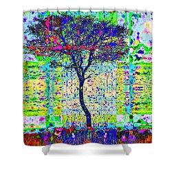 Acacia Tree Shower Curtain