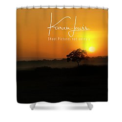 Shower Curtain featuring the photograph Acacia Tree Sunrise by Karen Lewis