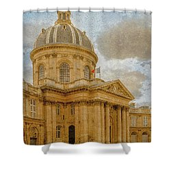 Paris, France - Academie Francaise Shower Curtain