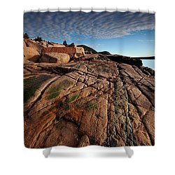 Acadia Rocks Shower Curtain