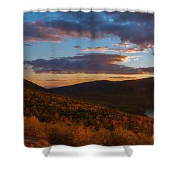Acadia Sunset Shower Curtain by Sharon Seaward