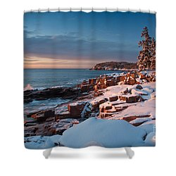 Acadian Winter Shower Curtain
