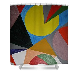 Accidental Pacman Shower Curtain by Barbara Yearty