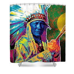 Aceca Indian Chief Shower Curtain