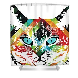 Acid Cat Dream By Robert R Shower Curtain