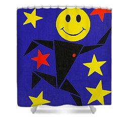 Acid Jazz Shower Curtain by Oliver Johnston