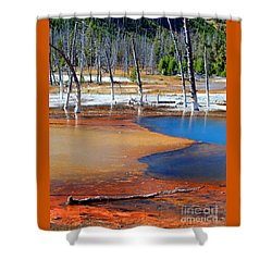 Acid Soup Yellowstone Shower Curtain