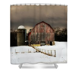 Shower Curtain featuring the photograph Acorn Acres by Julie Hamilton