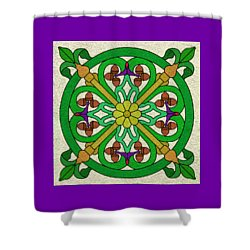 Acorn On Cream/purple Shower Curtain