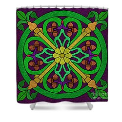 Acorn On Dark Purple 2 Shower Curtain