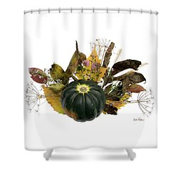 Shower Curtain featuring the digital art Acorn Squash Bouquet by Lise Winne