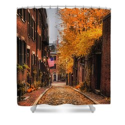 Acorn St. Shower Curtain by Joann Vitali