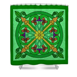 Acorns On Light Green Shower Curtain
