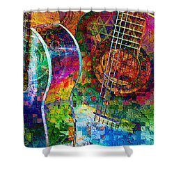Acoustic Cubed Shower Curtain