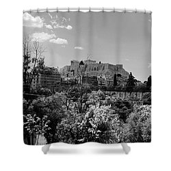 Acropolis Black And White Shower Curtain