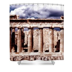 Acropolis Of Greece Shower Curtain by Linda Constant