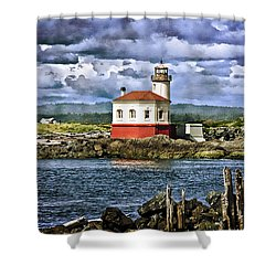 Across From The Coquille River Lighthouse Shower Curtain